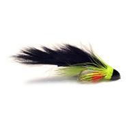 Brass Cone Head Zuddler - Black & Lime
