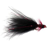 Flashy Red Head Damsel Black S/S