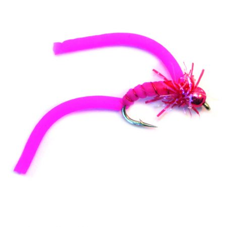 Squirmy Wormy Hot Pink Bead Head