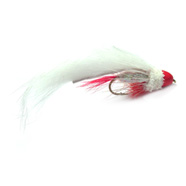 Brass Cone Head Zuddler - White & Red